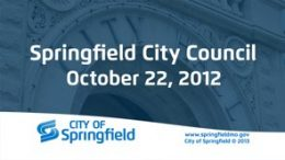 City Council Meeting – October 22, 2012