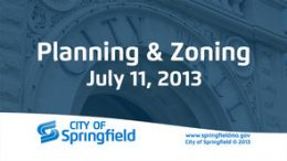 Planning & Zoning – July 11, 2013