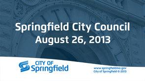 City Council – August 26, 2013