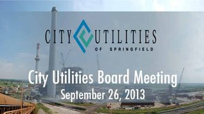 City Utilities Board – September 26, 2013