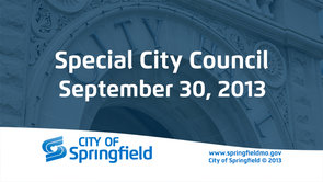 Special Council Meeting – September 30, 2013