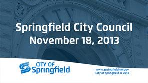 City Council – November 18, 2013