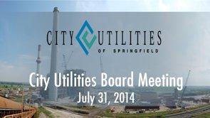 City Utilities Board – July 31, 2014