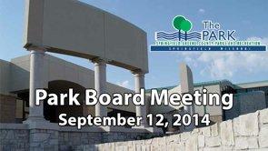 Park Board – September 12, 2014