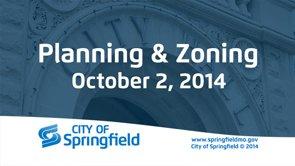 Planning & Zoning – October 2, 2014