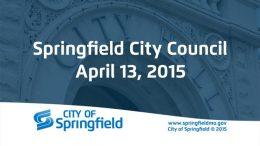 City Council Meeting – April 13, 2015