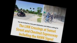 The Link crossing includes a HAWK signal