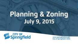 Planning & Zoning Meeting – July 9, 2015