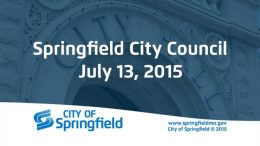 City Council Meeting – July 13, 2015