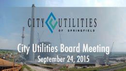 City Utilities Board – September 24, 2015