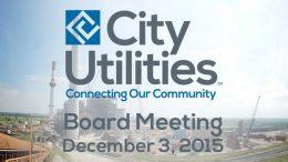City Utilities Board – December 3, 2015