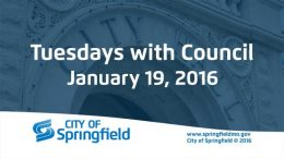 Tuesdays with Council – January 19, 2016