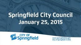 City Council Meeting – January 25, 2016