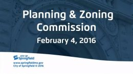 Planning & Zoning – February 4, 2016