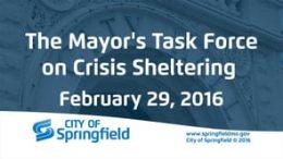 Mayor's Task Force on Crisis Sheltering – February 29, 2016