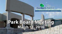 Park Board – March 11, 2016
