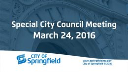 Special City Council Meeting – March 24, 2016