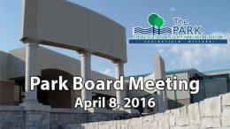 Park Board – April 8, 2015