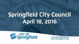 City Council Meeting – April 18, 2016