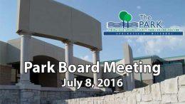 Park Board – July 8, 2016