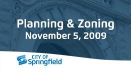 Planning & Zoning – November 5, 2009