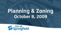 Planning & Zoning – October 8, 2009