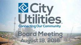City Utilities Board – August 18, 2016