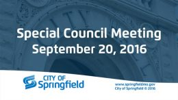 Special City Council Meeting – September 20, 2016