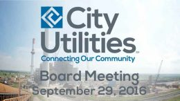 City Utilities Board – September 29, 2016
