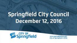 City Council Meeting – December 12, 2016