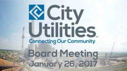 City Utilities Board Meeting – January 26, 2017
