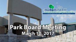 Park Board – March 10, 2017