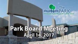 Park Board Meeting – April 14, 2017