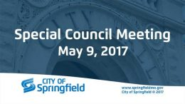 Special City Council Meeting – May 9, 2017