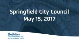 City Council Meeting – May 15, 2017