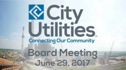City Utilities Board Meeting – June 29, 2017