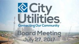 City Utilities Board Meeting – July 27, 2017