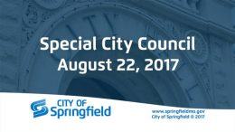 Special City Council Meeting – August 22, 2017