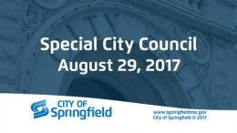 Special City Council Meeting – August 29, 2017