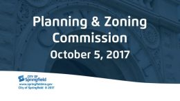 Planning and Zoning – October 5, 2017