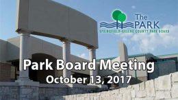 Park Board – October 13, 2017