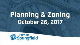 Planning and Zoning – October 26, 2017