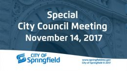 Special City Council Meeting – November 14, 2017