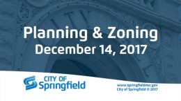 Planning & Zoning Meeting – December 14, 2017