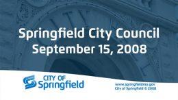 City Council Meeting – September 15, 2008