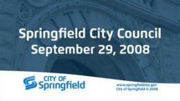 City Council Meeting – September 29, 2008