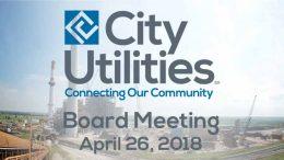 City Utilities Board Meeting – April 26, 2018