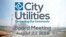 City Utilities Board Meeting – August 23, 2018