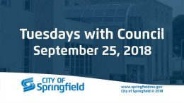 Tuesdays with Council – September 25, 2018