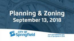 Planning & Zoning Meeting – September 13, 2018